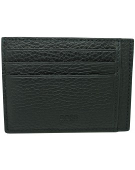 black business card holder Hugo Boss granulated