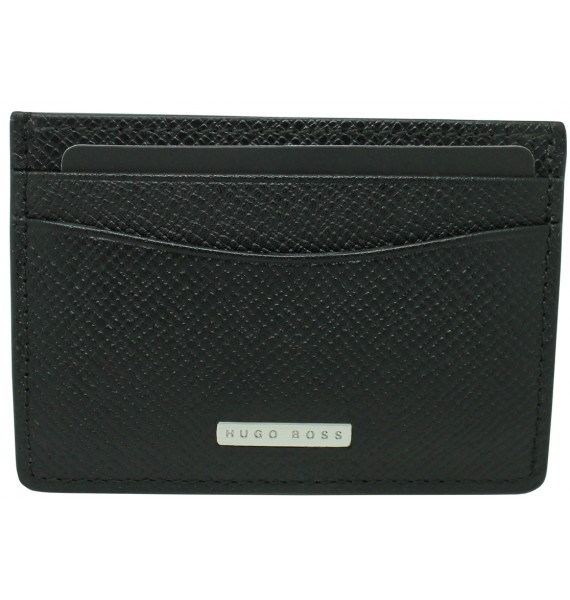 black business card holder with shield of Hugo Boss