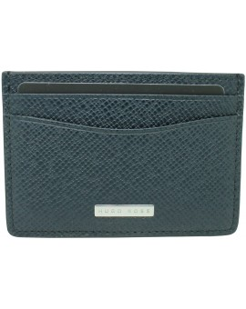 Navy marine business card holder with shield of Hugo Boss
