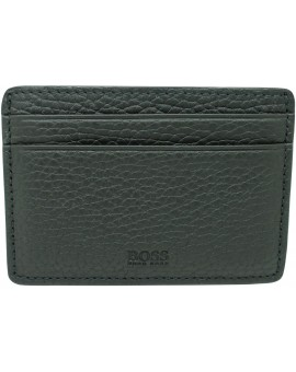 Black business card holder with monogram of Hugo Boss