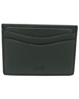 Black business card holder slanting white HUGO BOSS