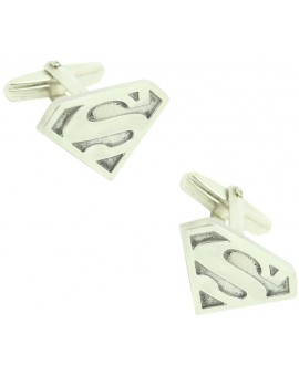 Cufflinks for shirt Superman 925 Sterling Silver PREMIUM