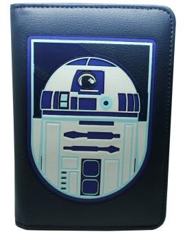 Porta pasaporte R2 D2 de Star Wars Azul - Oficial