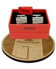 Cufflinks Hugo Boss RED wavy square