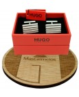 Gemelos Hugo Boss RED wavy square