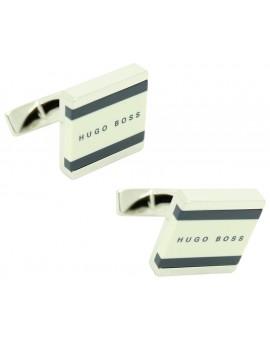 Cufflinks Hugo Boss square lines - white
