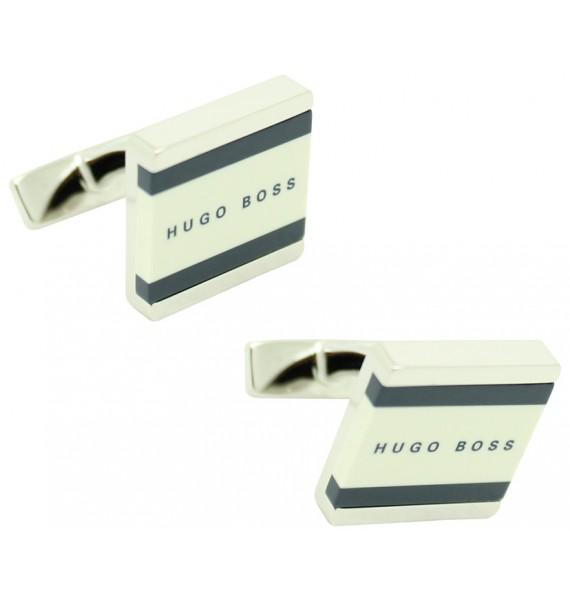 Gemelos Hugo Boss square lines - Blanco