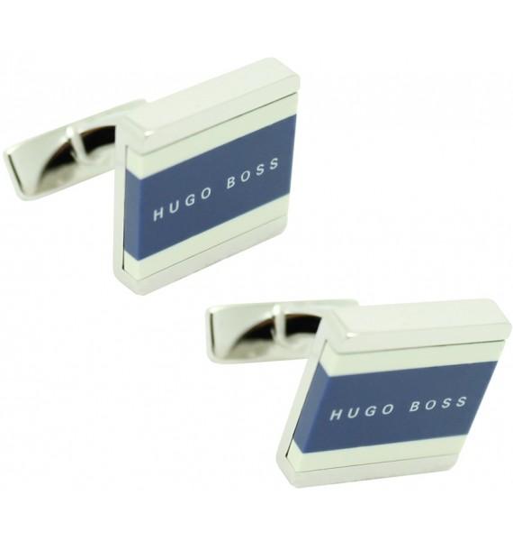 Cufflinks Hugo Boss square lines - blue