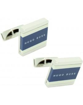 Gemelos Hugo Boss square lines - azul