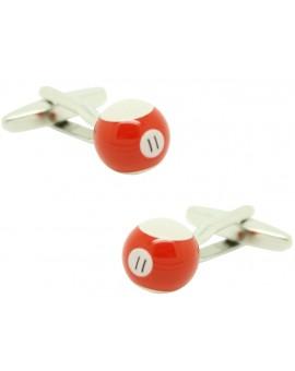 Cufflinks for shirt Ball billiard 11 Red