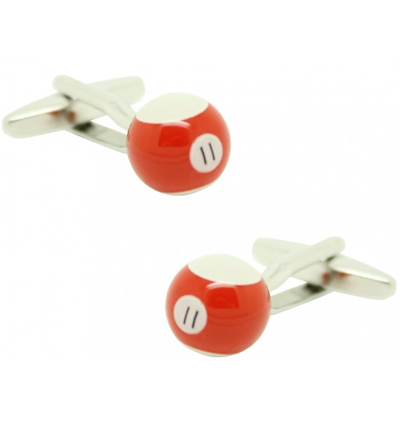 Cufflinks for shirt Ball billiard 11 Red