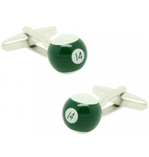 Gemelos para camisa Bola billar 14 Verde