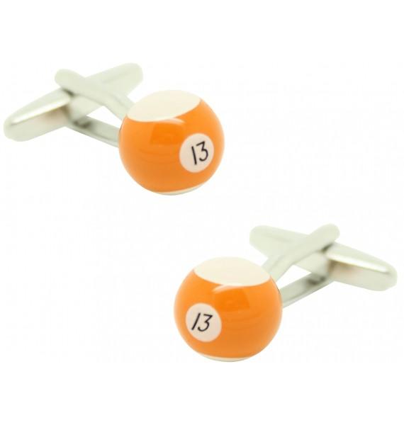 Gemelos para camisa Bola billar 13 Naranja