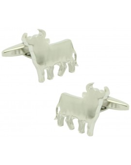 Cufflinks for shirt Bull of Lidia plated