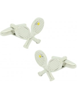 Cufflinks for shirt Tennis Rackets with Ball