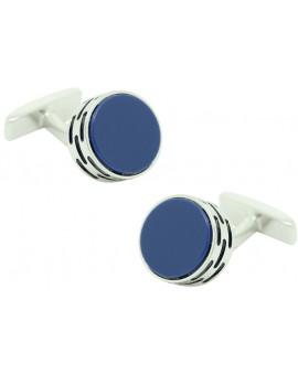 Cufflinks Hugo Boss roundel - blue stone
