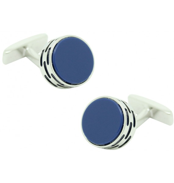 Cufflinks Hugo Boss roundel - blue stone