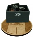 Gemelos Hugo Boss Grid square - plated