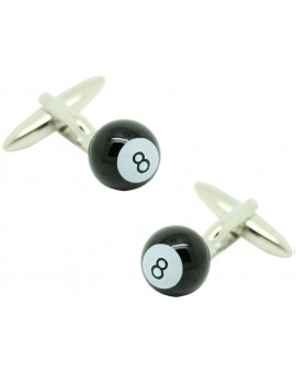 Black Billiard Ball Cufflinks