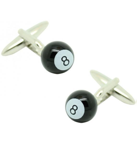 Black Billiard Ball Cufflinks
