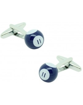 Blue Billiard Ball Cufflinks