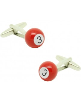 Red Billiard Ball Cufflinks