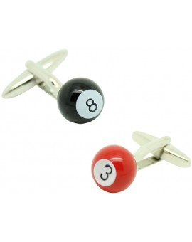 Red and Black Billiard Balls Cufflinks