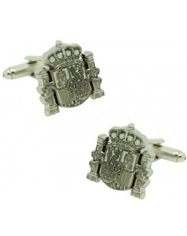 Cufflinks for official shield Spain plated