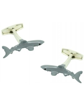 Cufflinks for 3D shark shirt