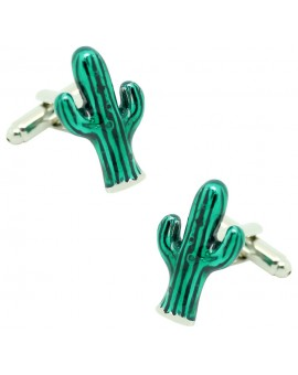 Gemelos para camisa Cactus verde