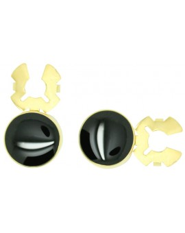 Executive Roundel Button Covers Golden - Black