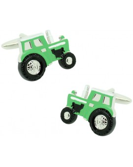 Cufflinks for shirt Agricultural green tractor
