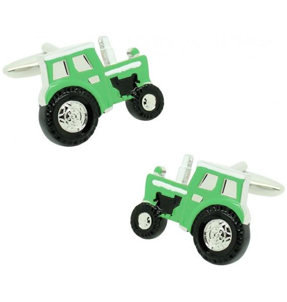 Gemelos para camisa Tractor verde agricola