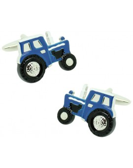Cufflinks for shirt Agricultural blue tractor