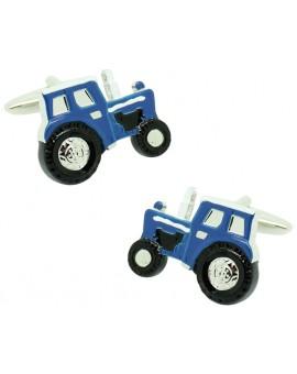 Gemelos para camisa Tractor azul agricola