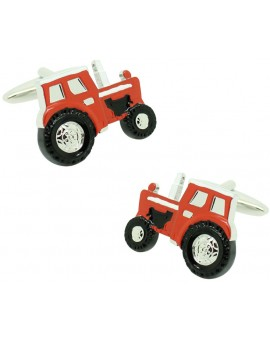Cufflinks for shirt Agricultural red tractor