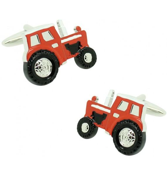 Gemelos para camisa Tractor rojo agricola