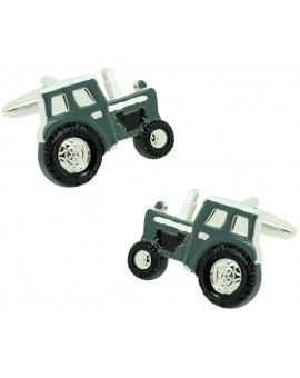 Cufflinks for shirt Agricultural military green tractor