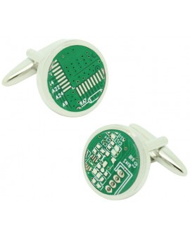 Microchip roundel cufflinks