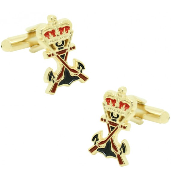 Spanish Navy Marines Shield golden Cufflinks