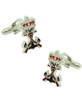Cufflinks for shirt Navy plated infantry