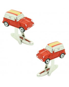 Cufflinks for shirt Mini Cooper 3D red - Spain