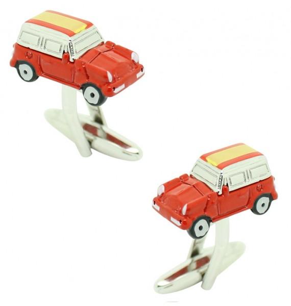 Cufflinks for shirt Mini Cooper 3D red - Spain