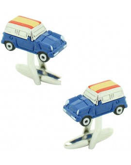 Cufflinks for shirt Mini Cooper 3D blue - Spain