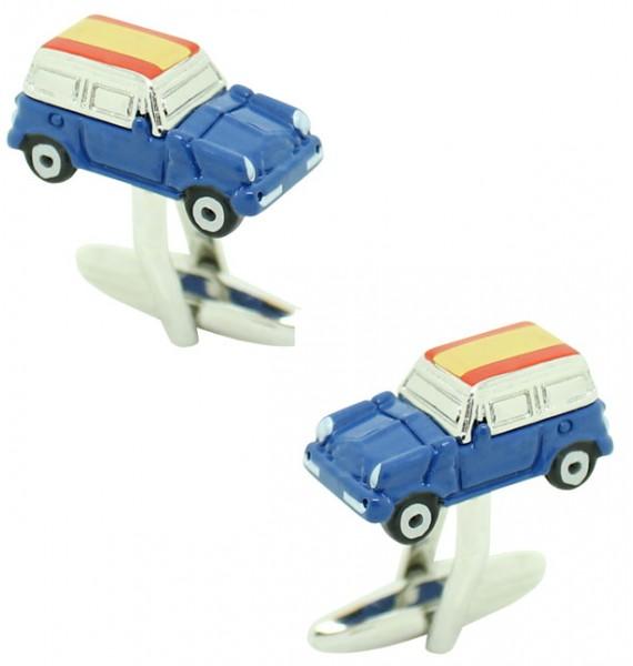 Cufflinks for shirt Mini Cooper 3D blue - Spain