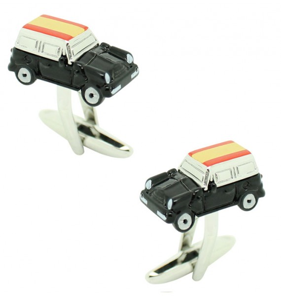 Cufflinks for shirt Mini Cooper 3D black - Spain
