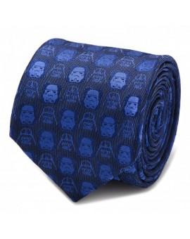 Darth Vader and Stormtrooper Blue Tie for men
