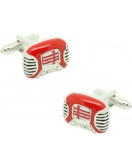 red Radio Cufflinks