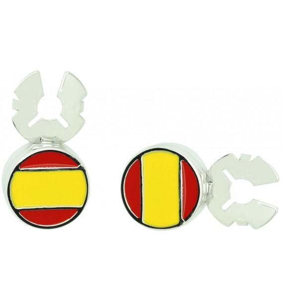 Cubrebotones para camisa Bandera de España