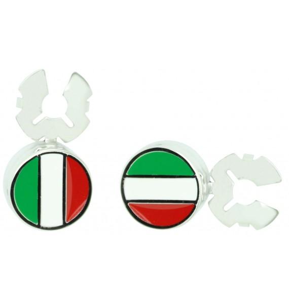 Cubrebotones para camisa Bandera de Italia